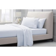 1000 Thread Count Hotel Weight Luxury Cotton Sateen Sheeting Range in Soft Blue by Sheridan