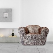 Leopard 1 Seater Chair Cover by Sureft