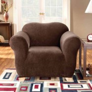 Coffee 1 Seater Chair Cover by Surefit