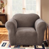 Taupe 1 Seater Chair Cover by Surefit