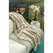 Luxury Animal Print White Tiger Throw Rug by Jenny McLean