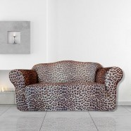 Leopard 2 Seater Couch Cover by Surefit