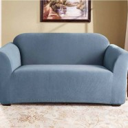 Federation Blue 2 Seater Couch Cover by Surefit