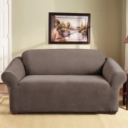 Taupe 2 Seater Couch Cover by Surefit