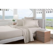 300 Thread Count Classic Percale Sheeting Range in Sand by Sheridan