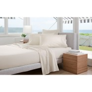 300 Thread Count Classic Percale Sheeting Range in Chalk by Sheridan