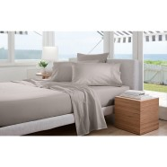 300 Thread Count Classic Percale Sheeting Range in Dove by Sheridan