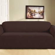 Coffee 3 Seater Couch Cover by Surefit
