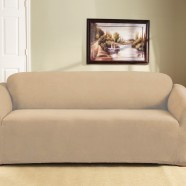 Dark Flax 3 Seater Couch Cover by Surefit