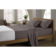 400 Thread Count Soft Sateen Sheeting Range in Charcoal by Sheridan
