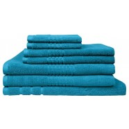 Montage 7 Piece Cotton Bath Towel Set - Aqua