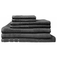 Montage 7 Piece Cotton Bath Towel Set - Charcoal
