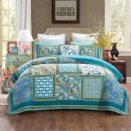 Aquamarine Quilted Coverlet