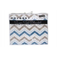 Fiesta Blue Blanket Queen/King by Odyssey Living