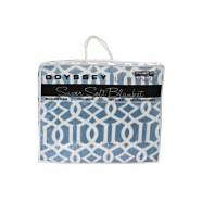 Gibraltor Blue Blanket Queen/King by Odyssey Living