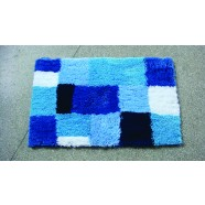 Microfibre Check Blue Bathmat Range
