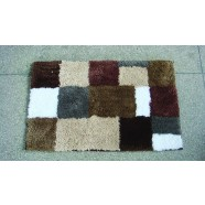 Microfibre Check Brown Bathmat Range