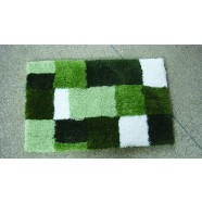 Microfibre Check Green Bathmat Range