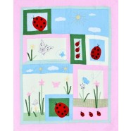 Lady Bug Quilted Throw