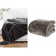 Mushroom Classic Mink Blanket by Paxton & Wiggin