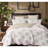 Coral Quilted Coverlet
