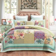 Cosmic Floral Quilted Coverlet