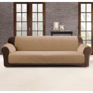 Dark Flax 3 Seater Custom Fit Couch Protector