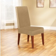 Dark Flax Dining Chair Cover by Surefit