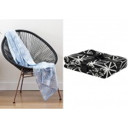 Black Geo Knit Throw by Ladelle
