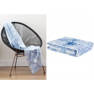 Serenity Blue Geo Knit Throw by Ladelle