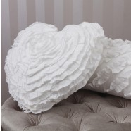 Heart White Cushion by Logan & Mason