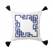 Kowloon Navy Square Cushion by Logan & Mason