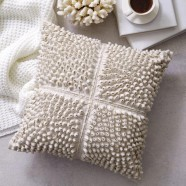Luna Alabaster Square Cushion by Private Collection