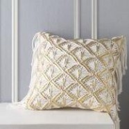 Merivale Gold Square Cushion by Logan & Mason