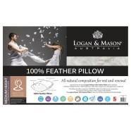 100% Feather Pillow by Logan & Mason