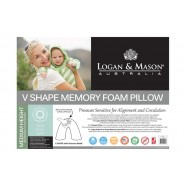 V Shape Memory Foam Pillow by Logan & Mason