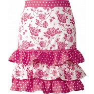 Cancer Fundraising Rosette Pink Frilled Waist Apron