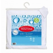 Dry Sleep Waterproof Fitted Mattress Protector by Tontine