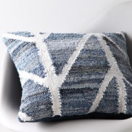 Tarro Blue Square Cushion by Logan & Mason