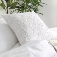 Tillie White Square Cushion by Private Collection