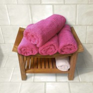 Cancer Fundraising 100% Cotton Queen Bath Towel Fuchsia