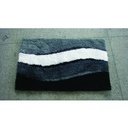 Microfibre Wave Grey Bathmat Range
