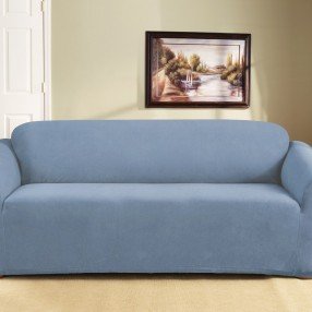 Swell Federation Blue 3 Seater Couch Cover By Surefit Surefit Caraccident5 Cool Chair Designs And Ideas Caraccident5Info